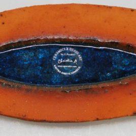 Πιατέλα στόνγουερ οβάλ  27 Χ 10 cm