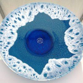 Platter White turquoise Φ 30 Χ height 5,5 cm